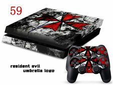 Sony PS4 Console and Controller Skins -- Resident Evil Umbrella Logo (#59)