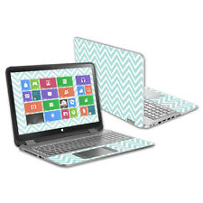 "Skin Decal Wrap for HP Envy x360 15.6"" (2014 Version) Laptop Aqua Chevron"