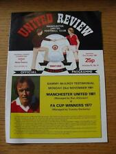 30/09/1981 Manchester United v Leeds United  (Light Crease, Small Scuffs, Token