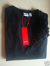 New $79.50 ESPRIT Ladies Black NiceTop With Decoration Size US - M ( I and F- L)
