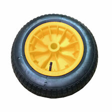 "Wheelbarrow REPLACEMENT 1x14"" Wheel Pneumatic Inflatable Tyre 3.50-8 S247 Yellow"