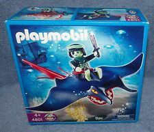 PLAYMOBIL 2008 GHOST PIRATE STINGRAY WITH RIDER SET #4801