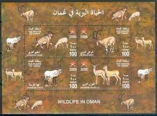 Oman 2000 ** Bl.20 Tiere Animals Steinbock Gazelle Oryx