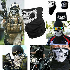 Skull Face Scarf Snood Neck Mask Bandana Ski Skate Bike Motorcycle BMX Paintball