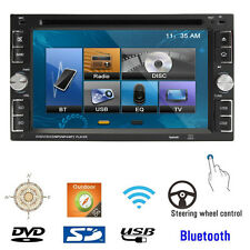 6.2'' HD 2 DIN Voiture Stéréo Bluetooth Autoradio Ecran Tactile DVD CD MP4 USB