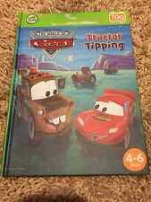 LeapFrog Tag Reader Book, Disney The World Of Cars, Tractor Tipping Leap Reader