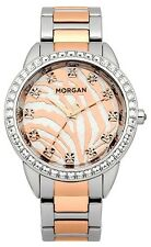 Morgan M1183RGM Ladies Stunning Zebra Dial Two Tone Strap Watch Gift Boxed