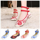 Womens Casual Flat Canvas Sneakers Embroidered Floral Comfortable Shoes Hot Sell