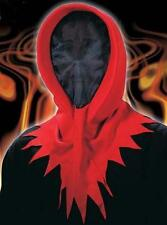 Invisible Face Mask With Red Hood Death Grim Reaper Halloween Fancy Dress