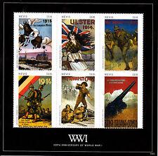 Nevis 2014 MNH WWI First World War I 100th Anniv War Posters 6v M/S I Stamps