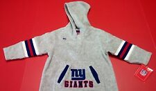 New NFL New York NY Giants Kids One Piece Coveralls Onesie Hoodie Football 18mth