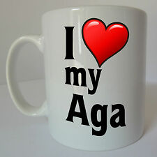 I Love Heart My AGA Mug Gift Present Birthday Christmas Cook Chef Oven Stove