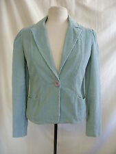 Ladies Jacket - Miss Selfridge, size 10/36, cord, duck egg blue, casual - 0848