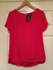 M&S Deep Pink / Red Top , Size 8, Bnwt