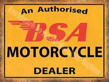 Vintage Garage, 64 BSA Motorcyle Dealer Old Motorbike Oil, Medium Metal/Tin Sign