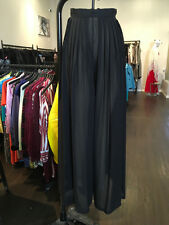 American Apparel Sz XS Black Chiffon Wide Leg Pants - Stains