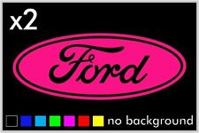 (2) Ford Sticker Vinyl Decal Car Truck Wheel Hub Cap Oval Wall Laptop Window