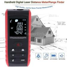 60m Digital Laser Distance Meter Range Finder Measure w/ Angle Indication J2U6