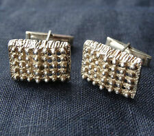 vintage 830 solid SILVER modernist abstract mens cufflinks 1960s / 70s -D185