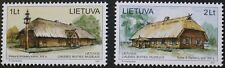 35th anniversary of open air museum stamps, 2001, Lithuania, SG ref: 765 & 766
