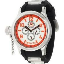 INVICTA RUSSIAN DIVER DAY & DATE WHITE DIAL POLYURETHANE MEN'S WATCH 1928 NEW