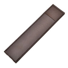 1 Pc Brown Synthetic Leather Fountain Pen Case Pencil Bag Holder Storage Pouch