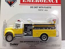 HO 1/87 Boley # 4024-78 I.H. 4900 Single Axle Pumper Fire Truck - Yellow w/white