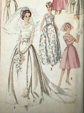 Vintage 1960's Sewing Pattern Simplicity 5343 Wedding, Bridesmaid Dress Bust 31""