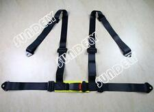 Car Vehicle 3 4 Point Racing Safety Harness Strap Seat Belt Bolt In Black UK