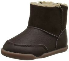 Carter's Bucket Brown Leather Ankle Boots Size 5 Infant Baby Boy 12-18 Months