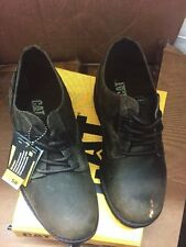 NIB MEN'S CAT CATERPILLAR BROWN MATHER OXFORD DUST SHOES SIZE 13