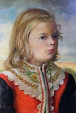 Magico Ritratto di ragazza. Originale Dipinti a olio firmato (E).(H). LORENZ 48