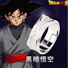 【IN STOCK】Super Dragon Ball Black Son Goku Gokou Time Finger Ring Silver Gifts