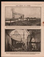 WWI Canal  l'Yser Ypres Driegratchen Eglise St-Jacques-Capelle 1915 ILLUSTRATION