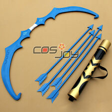 LEAGUE OF LEGENDS LOL Ashe Shooter Bow Arrow and Arrow Holder PVC Cospaly Prop