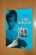JANE FONDA LEE MARVIN MICHAEL CALLAN CAT BALLOU 1965 RARE SYNOPSIS PRESSBOOK
