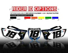 2010-2013 YAMAHA YZF 250 CUSTOM NUMBER PLATE BACKGROUNDS GRAPHICS YZ250F DECALS