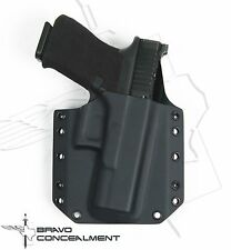 "Bravo Concealment Black BCA Glock 17, 22, 31 Kydex Gun Holster w/1.5"" Belt Loops"