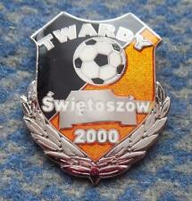 TWARDY SWIETOSZOW FUSSBALL FOOTBALL SOCCER SILVER VERSION ENAMEL PIN BADGE