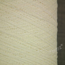 EXCLUSIVE SOFT GIMP COTTON YARN WHITE 500g CONE 10 BALLS KNITTING WEAVE CROCHET