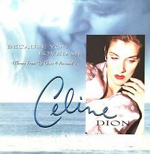 "Celine Dion CD Single Because You Loved Me (Theme From ""Up Close & Personal"") -"