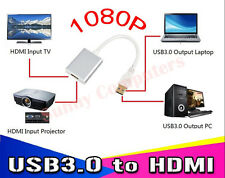 USB3.0 to HDMI Graphic Adapter Converter For Win10 8 PC Laptop HDTV Audio Video