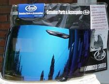 Arai -GENUINE- Blue Mirrored Iridium Visor Shield RX7 Corsair RR4 Quantum Chaser