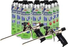 Dow Enerfoam Adhesive PRO Foam sealant adhesive Lot (12) plus 2 Pro foam guns
