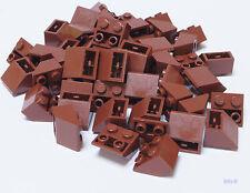 LEGO - 50 x Dachstein invers 2x2  / 45 Grad braun / Slope Inverted 3660 NEUWARE