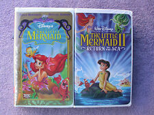 Lot of 2 Classic Disney Movies The Little Mermaid 1 & 2 Great Family Fun.