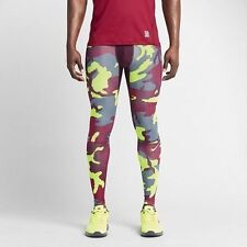 NWT Nike Pro Combat Hypercool Dri-FIT MAX Compression Woodland Camo Tights Pants