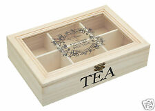 Kitchen Craft Le Xpress Wood Wooden Vintage Style Tea Box Chest KCLXTEABOX