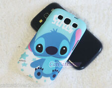 Cute Matte Diseny cloud star Stitch soft rubber case cover skin Samsung S3 III