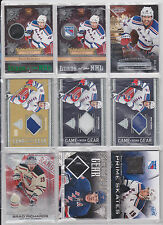 Brad Richards 45 Card Lot Titanium Ruby Prime Skates Dominion Certifed Signature